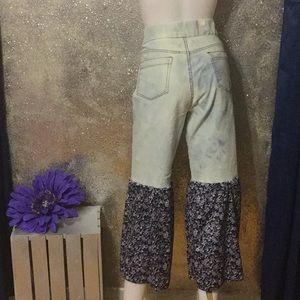 dancing denim Jeans - Flare Leg Bell Bottom Bell Bottom Capris